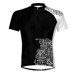 Parts Black Cycling Jersey - Primalwear
