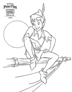Peter Pan Coloring Pages - Free Printables | Pinterest | Peter pans ...