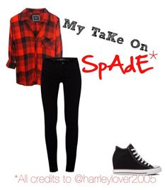 """""""Spade"""" by lunalynch13 on Polyvore featuring J Brand and Converse"""