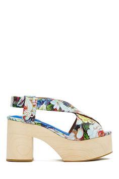 Jeffrey Campbell Falk Platform Sandal - Floral | Shop June Bloom at Nasty Gal