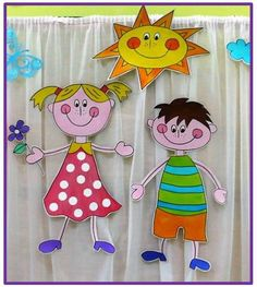 3d Paper Crafts, Paper Crafts For Kids, Preschool Crafts, Diy And Crafts, School Door Decorations, Class Decoration, Fish Crafts, Bunny Crafts, House Drawing For Kids