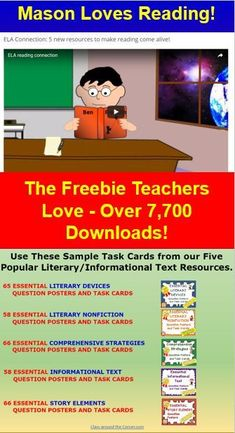 Teach the love of reading with understanding with this free sample resource of Literary Task Cards.