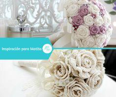 Ramo de novia, crochet, wedding, boda