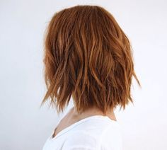 Strawberry brown bob by Anh Co Tran