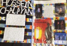 Artist study sketchbook page