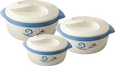2.5 out of 5 stars  2 Reviews Nayasa Floriana Small Plastic Casserole Set 3-Pieces Blue @ rs 508