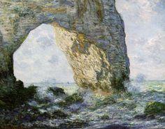 MONET Claude,1883 - La Manneporte : « Monet, je n'ai jamais rencontré un pareil metteur en place, une facilité si prodigieuse à saisir le vrai... » (Conversation entre CEZANNE et Emile Bernard,1904)