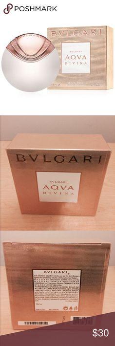 Bulgari Aqua Divina Eau de Toilette (2.2 fl oz) New, never opened, still in plastic wrap packaging! Notes: bergamot, salt crystals, red ginger, magnolia, quince, beeswax, precious woods and amber Bulgari Accessories