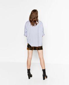 Image 3 of OVERSIZED STRIPED SHIRT from Zara