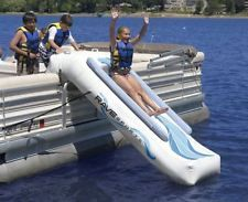 Pontoon Boat Accessories Inflatable Water Slide for Adults Kids Lake Swimming