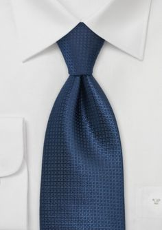This simple blue tie would make a great choice for any suit.