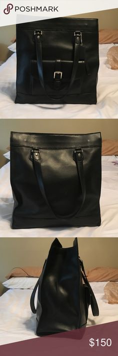 Coach large tote bag Barely used black Coach large tote bag with no visible wear or tear. Coach Bags Totes