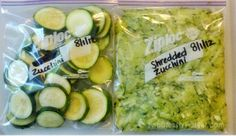 How to Freeze Zucchini | Fabulessly Frugal: A Coupon Blog Sharing Gift Ideas, Amazon Deals, Printable Coupons, DIY, How to Extreme Coupon, and Make Ahead Meals