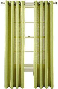 MarthaWindow Provence Weave Grommet-Top Curtain Panel
