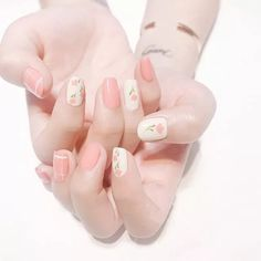 Light fog powder Clean and tranquil light fog powder, Simple but not simple. Choose this color in summer. Asian Nails, Korean Nails, Cute Nail Art, Cute Acrylic Nails, Pastel Nails, Simple Gel Nails, Kawaii Nails, Nail Swag, Stylish Nails