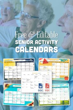 You can now add Daily Schedules, Icons, and Print at a variety of sizes! This easy to edit activity calendar can be pre-filled with upcoming events and celebration ideas for nursing homes and assisted living facilities. A perfect resource for activity coo Assisted Living Activities, Senior Assisted Living, Nursing Home Activities, Activities Of Daily Living, Indoor Activities For Toddlers, Elderly Activities, Toddler Learning Activities, Free Activities, Senior Living