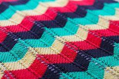 Hand Knit Cotton Rasta Baby Blanket