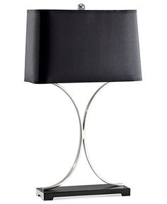 Murray Feiss Table Lamp, Jackson Black Shade - Table Lamps - for the home - Macy's
