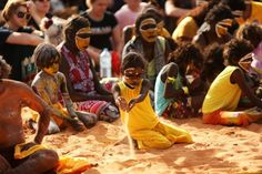 Gaumatj clan performers at the official opening of the new Garma Knowledge Centre in Gulkula in northeast Arnhem Land, August 2014.