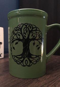 Tree of Life Coffee Mug | Celtic Coffee Mug | Coffee Mug | Coffee Gift | Pagan Coffee Cup by LeStrangeExchange on Etsy https://www.etsy.com/listing/510082825/tree-of-life-coffee-mug-celtic-coffee