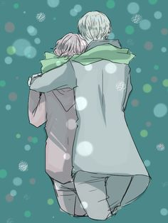 Draco Malfoy and Ronald Weasley - winterstroll by bbcchu.deviantart.com on @DeviantArt