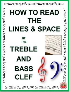 A 30 page PDF file introducing students to the lines and spaces of the treble and bass staff! #musiceducation #musedchat