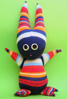 Frankie the scary monster Sock Doll by SimonaMereuCreArt on Etsy, $21.00