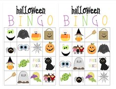 Halloween Bingo-free printables. Use for classroom party or home with the kids