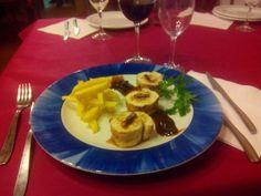 Pechugas rellenas de foie y salsa pasas. Restaurante Navarro de Pza Tetuán. #jornadasPOPCastellón