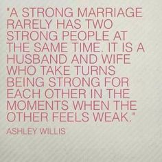 Strong marriage....