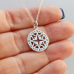 FashionJunkie4Life - Sterling Compass Necklace. Use coupon code PIN10 for 10% off your entire purchase and free shipping worldwide!