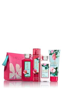 Hello Beautiful - All the Essentials Cosmetic Bag - Bath & Body Works - Make it a beautiful day every day with this spacious cosmetic clutch filled with her favorite Hello Beautiful essentials! Kit includes: super-lathering Shower Gel (10 fl oz), hydrating Body Lotion (8 fl oz), luxurious Ultra Shea Body Cream (8 oz) and skin-loving Fine Fragrance Mist (8 fl oz).