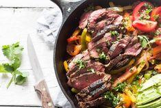 Gezonde fajitas van gemarineerde biefstuk