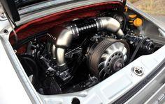 Singer Porsche 911 Lovingly Restored Engine Compartment Detail