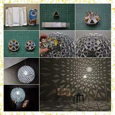 DIY | สร้างแฟชั่นของตัวเองง่ายๆ: ไอเดียงานประดิษฐ์โคมไฟจากกล่องนม