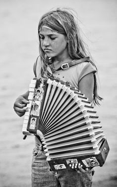 Little girl accordion