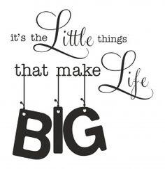Muursticker The little Things...