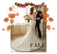 """""""Simple Fall Wedding 2016"""" by eunij ❤ liked on Polyvore featuring Mon Cheri, Improvements, Fall, wedding and 2016"""