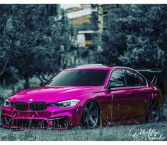 BMW F30 3 series pink slammed wing