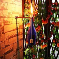 New Fiberglass Tiki Torch Hardware Kit Wine Beer Bottle Display Stand Rack Suspension For Garden Wedding Christmas Party Decor Tiki Torch Wicks, Wine Bottle Tiki Torch, Tiki Torches, Wine Bottle Crafts, Beer Bottle, Halloween Crafts, Halloween Party, Outdoor Garden Lighting, Bottle Display