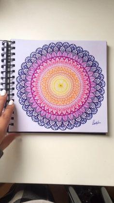 My 2019 mandala drawings - Mandala and zentangle Mandala Doodle, Mandala Art Lesson, Mandala Artwork, Mandala Painting, Watercolor Mandala, Mandala On Canvas, Mandala Book, Doodle Art Drawing, Mandala Drawing