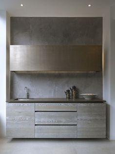 M :: Minimal #kitchen design #minimalism: Interior, Grey Driftwood, Driftwood Veneer, Wall Cabinets, Grey Kitchens, Modern Kitchens, Base Cabinets, Kitchen Designs