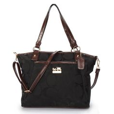 Coach Logo Monogram Medium Black Totes BJZ Could Stand On The Fashionable Stage And Be Shining! Michael Kors Satchel, Handbags Michael Kors, Coach Handbags, Coach Purses, Coach Bags, Purses And Bags, Michael Kors Fashion, Michael Kors Jewelry, Christian Louboutin Loafers