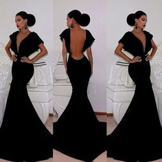Cheap gown dress, Buy Quality dresses and evening gowns directly from China dresses black Suppliers: Black Long Mermaid Prom Dress Sexy Backless Party Formal Evening Gowns Dress vestidos de gala baile Evening Dress Long, Formal Evening Dresses, Evening Gowns, Dress Formal, Evening Party, Formal Prom, Formal Gowns, Prom Long, Evening Cocktail