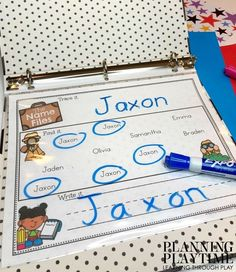 Name Practice Activities - Planning Playtime