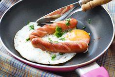 Frankfurter mit Ei ein #Frühstück aus dem Wiener Kaffeehaus. Versuchen sie das Rezept auch daheim, ihre Kinder werden es mögen.