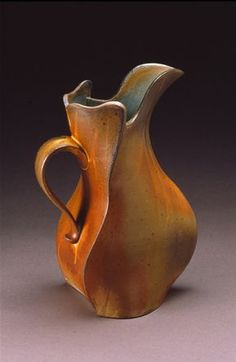 "MATT KELLEHER  PENLAND, NC  Three Sided Pitcher  13x8x5""/stoneware/ ^10 soda"