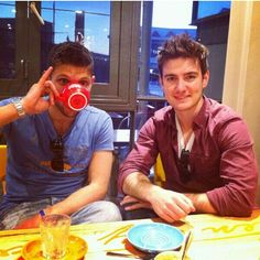 Emmet and Colm out for coffe.