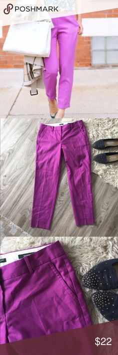 J. Crew Factory City Fit Skimmer Pants Beautiful pink/purple wool blend Pants from J. Crew Factory. In a comfortable wool blend and fully lined. Style is City Fit Skimmer, perfect condition. J. Crew Factory Pants Ankle & Cropped