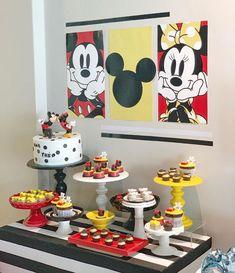 Mickey Mouse Birthday Decorations, Mickey Birthday, Mickey Party, Mum Birthday, Mickey Minnie Mouse, 1st Birthday Parties, Second Birthday Ideas, Birthday Goals, First Birthdays